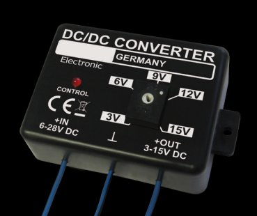 Voltage converter 6 to 28 volts to 3 to 15 volts